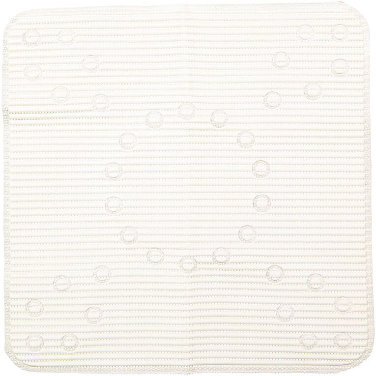 Living & Co Shower Mat Anti Bacterial White 53cm x 53cm, White, hi-res image number null