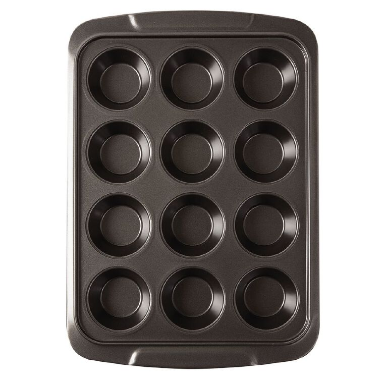 Living & Co Heavy Gauge Non Stick Muffin Tray 12 Cup, , hi-res