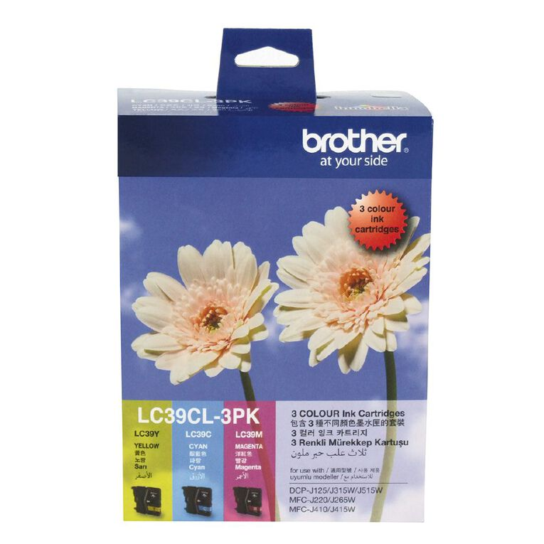 Brother Ink LC39 Colour 3 Pack (260 pages), , hi-res
