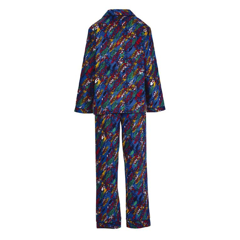 Avengers Kids' Flannelette Pyjamas, Navy, hi-res