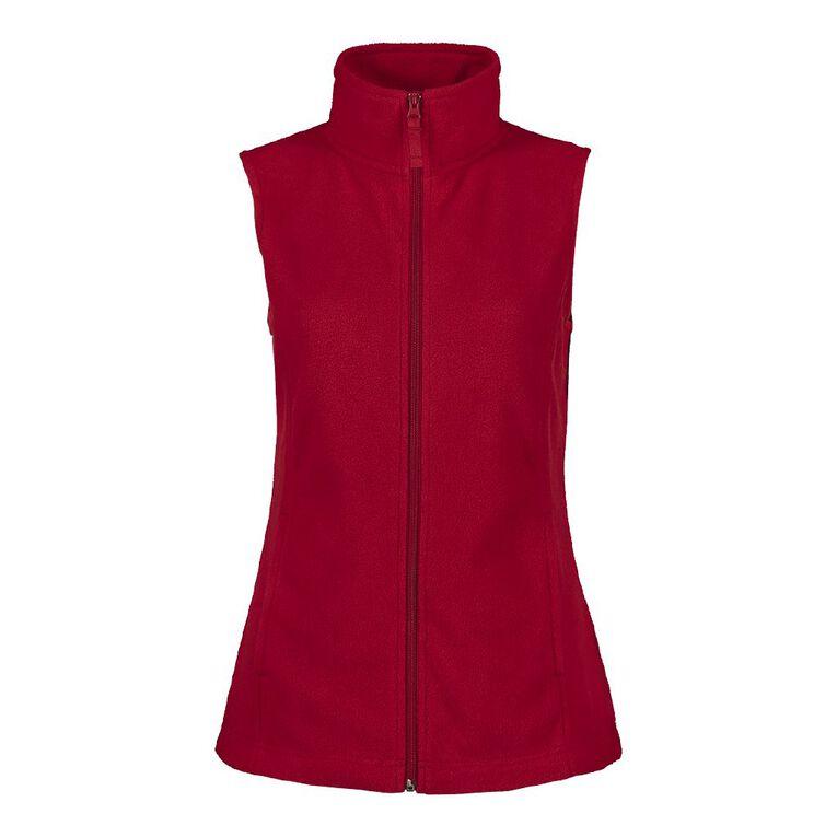 H&H Women's Microfleece Vest, Red Mid, hi-res