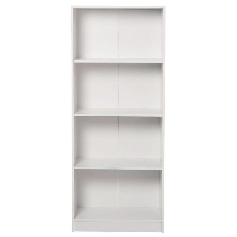 Living & Co Mason Bookcase 4 Tier White, , hi-res