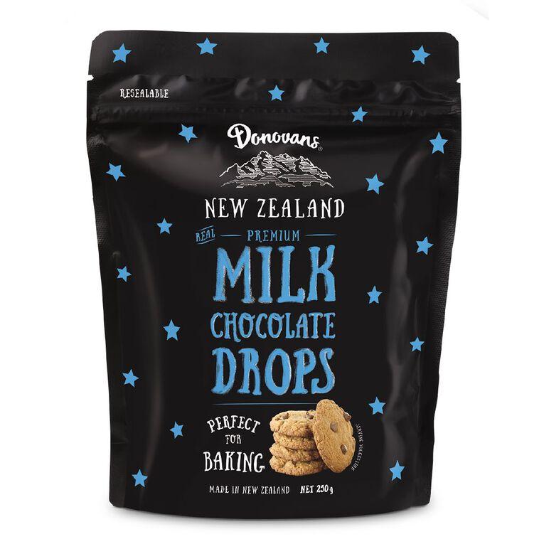 Donovans Chocolate Drops Milk 250g, , hi-res