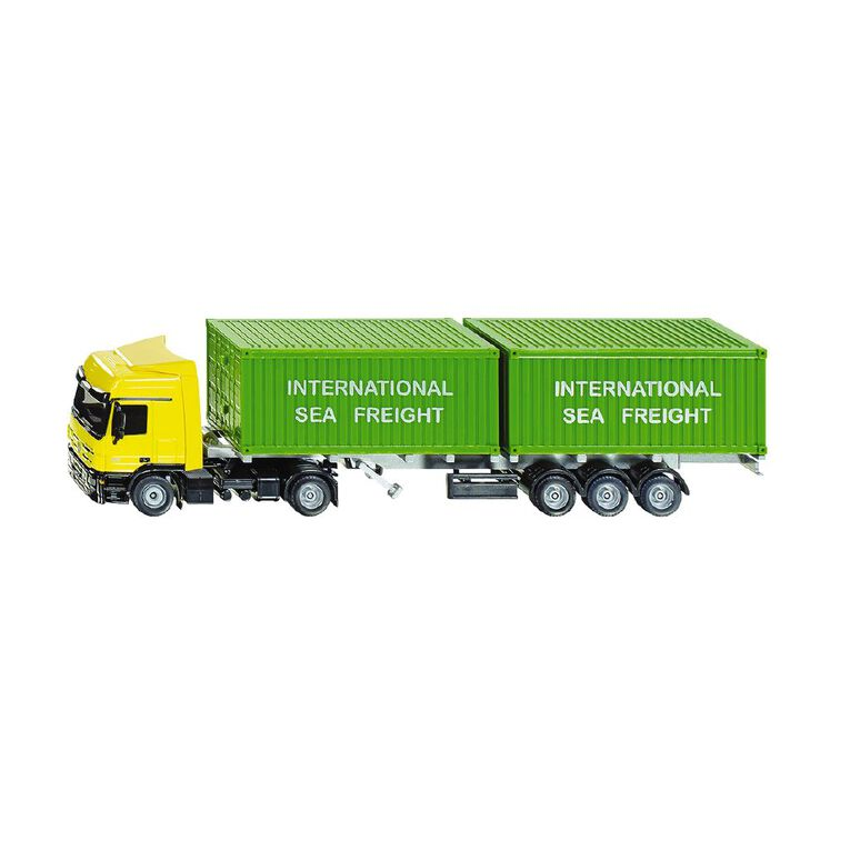 Siku 1:50 Mercedes Actros with Two Shipping Containers, , hi-res