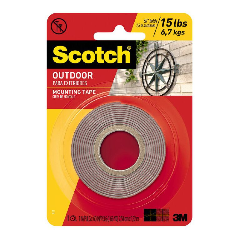 Scotch Permanent Outdoor Mounting Tape 4011, , hi-res