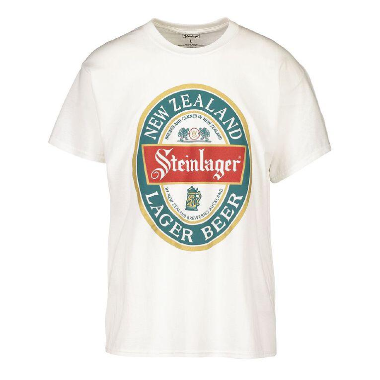 Steinlager Men's Short Sleeve Tee, White, hi-res