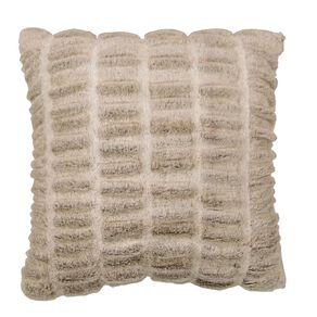 Living & Co Luxury Faux Fur Animal Cushion Ivory White 45cm x 45cm