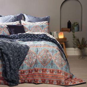 Living & Co Comforter Set 7 Piece Sitar Multi-Coloured Queen