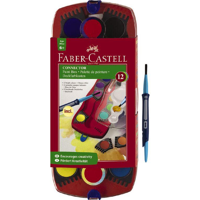Faber-Castell Connector Paint Set 12 Piece Multi-Coloured, , hi-res