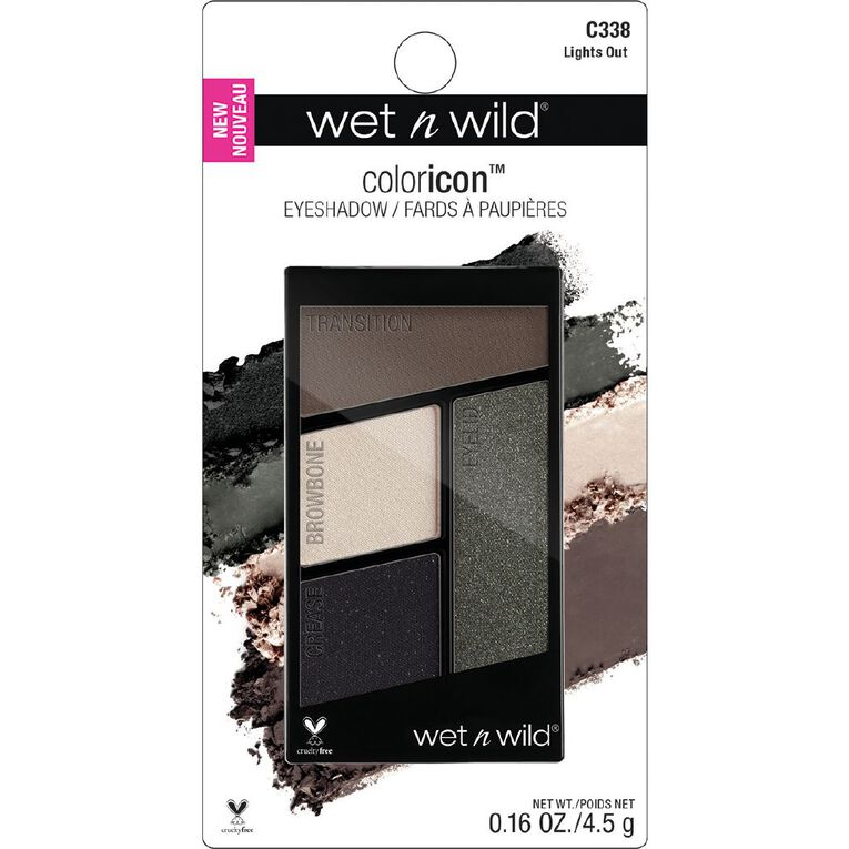 Wet n Wild Color Icon Eyeshadow quad Lights Out, , hi-res