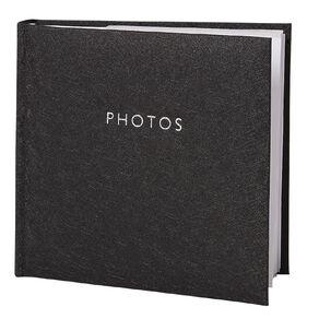 Living & Co Photo Album Black 4in x 6in 200 Pockets