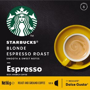 Starbucks Dolce Gusto Blonde Espresso Roast 12 Capsules