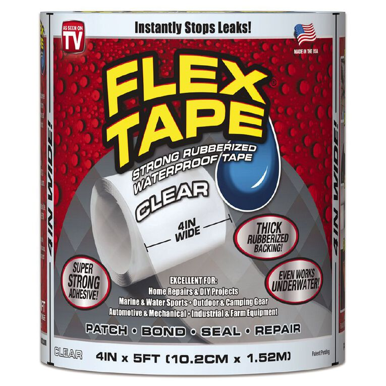 As Seen On TV Flex Tape Clear 4 inch, , hi-res