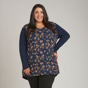 H&H Plus Women's Knit Back Tunic