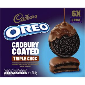 Oreo Cream Filled Chocolate Coated Triple Choc 204g