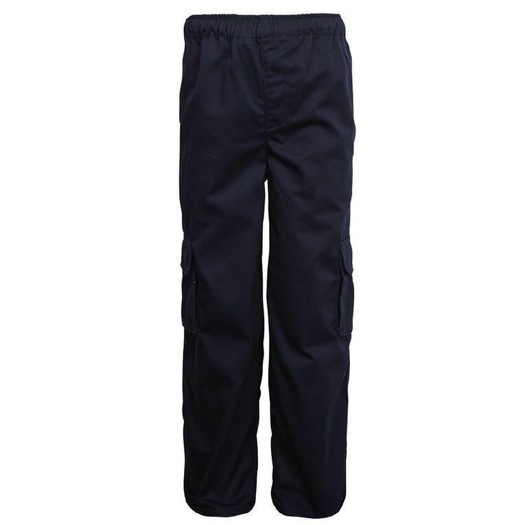 Schooltex Drill Cargo Pocket Pants, Navy, hi-res
