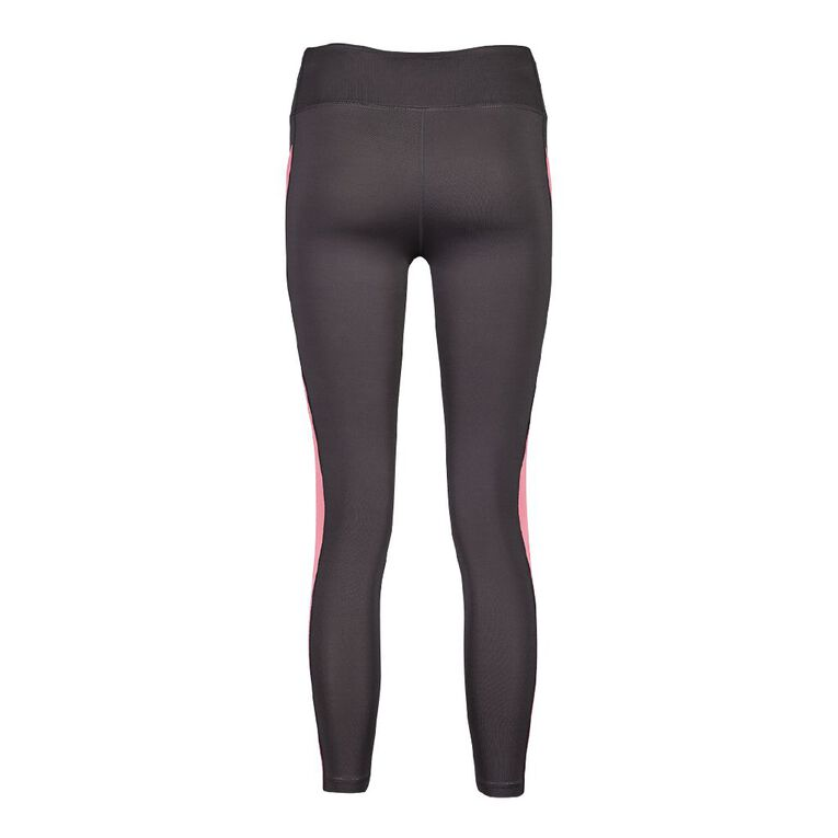 Active Intent Side Panel Leggings, Grey PNK LEMON, hi-res