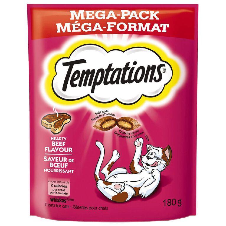 Temptations Cat Treats Hearty Beef Mega Pack 180g Bag, , hi-res