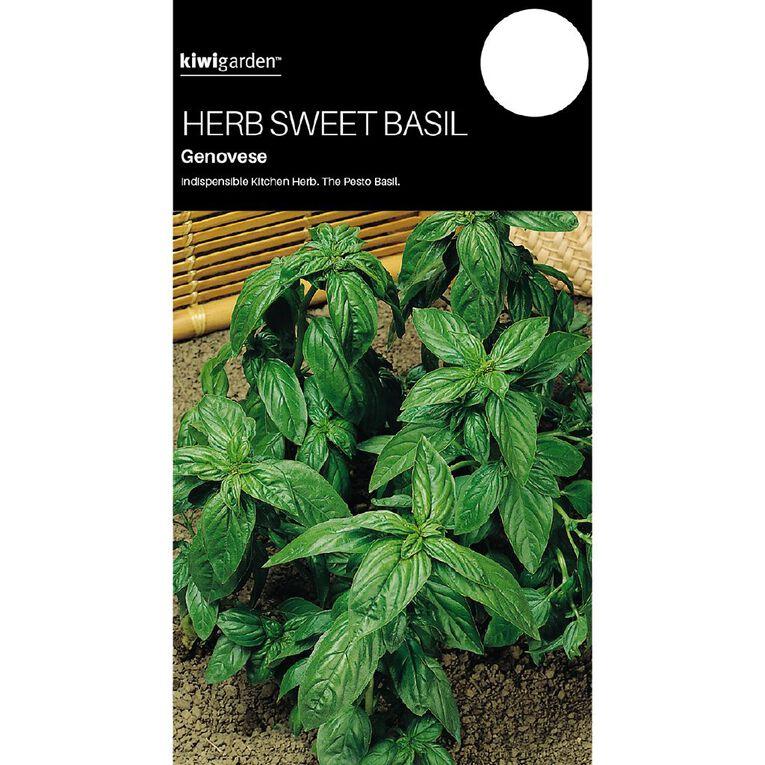 Kiwi Garden Herb Sweet Basil Genovese, , hi-res