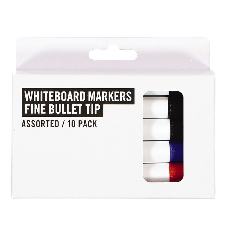 Deskwise Whiteboard Markers Assorted 10 Pack Assorted, , hi-res