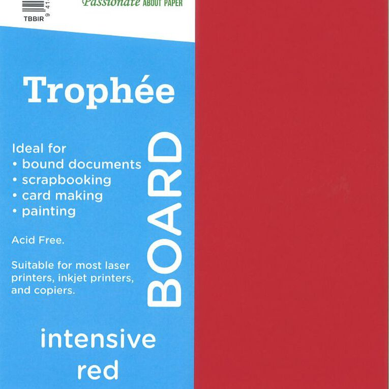Trophee Board 210gsm 100 Pack Intensive Red A4, , hi-res