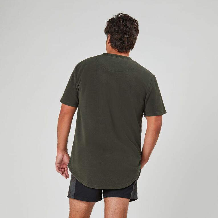 Back Country Solid Fleece Short Sleeve Tee, Black, hi-res