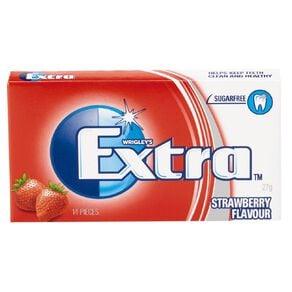 Extra Strawberry Chewing Gum Sugar Free 14 Piece 27g