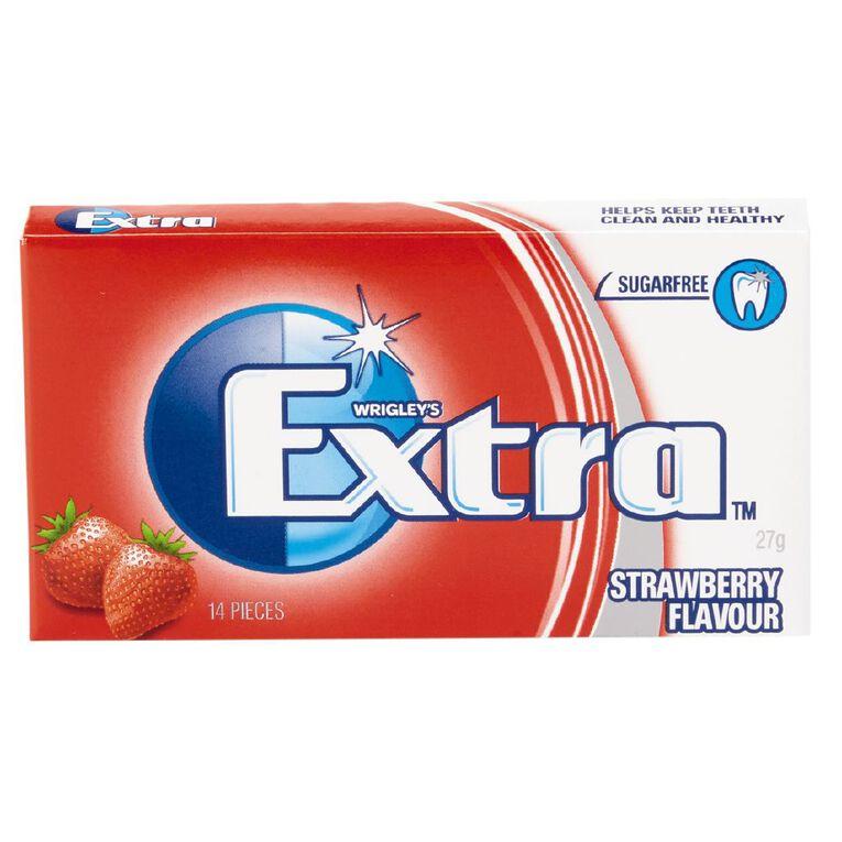 Extra Strawberry Chewing Gum Sugar Free 14 Piece 27g, , hi-res