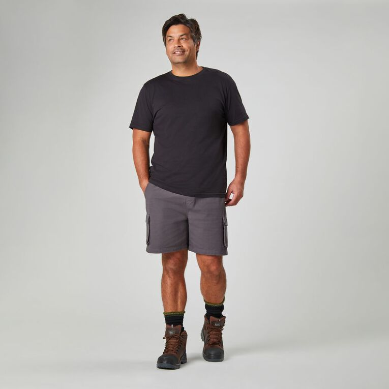 Rivet Bellow Pocket Shorts, Charcoal, hi-res