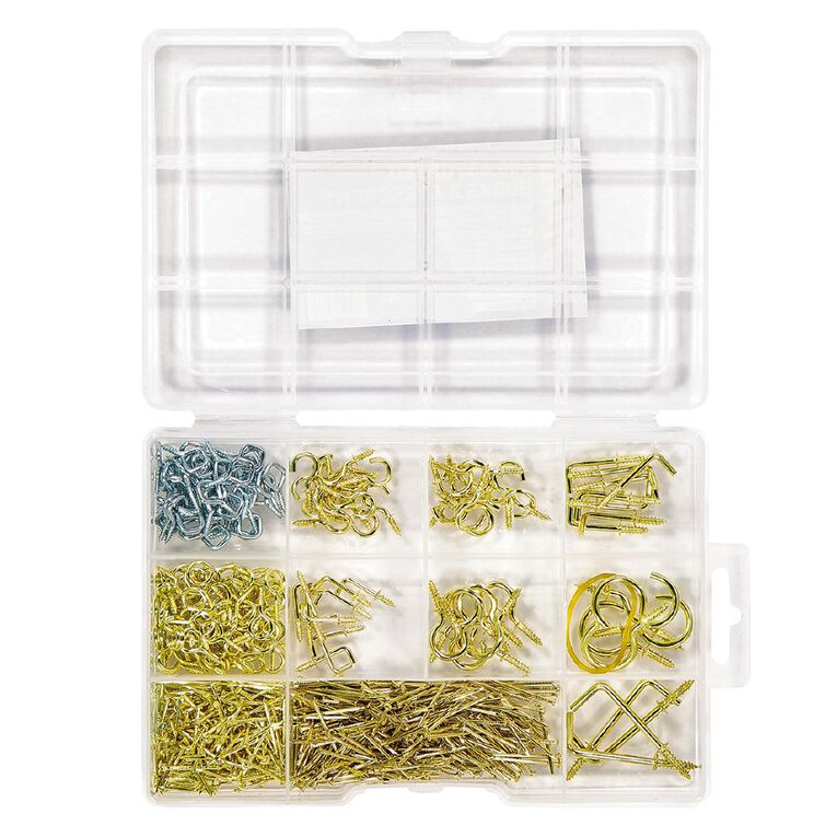 Mako Hook With Eye Screw Assortment 600 Piece, , hi-res image number null