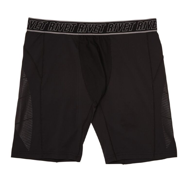 Rivet Men's Coolmax Trunks, Black blk/blk, hi-res image number null