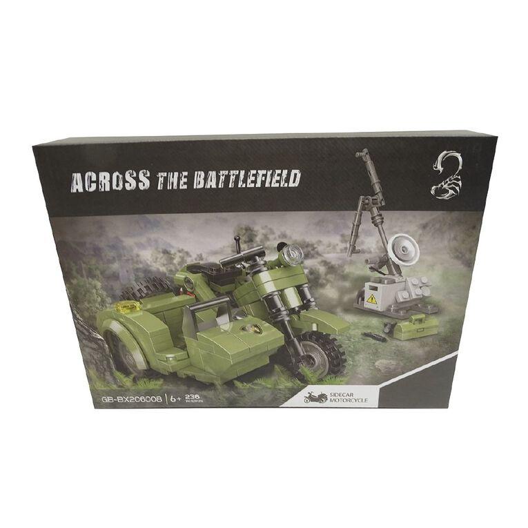 Across the Battlefield Sidecar Motorcycle 236 Pieces Building Bricks, , hi-res