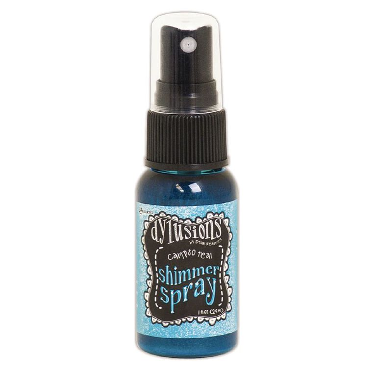 Ranger Dylusions Shimmer Spray Calypso Teal, , hi-res