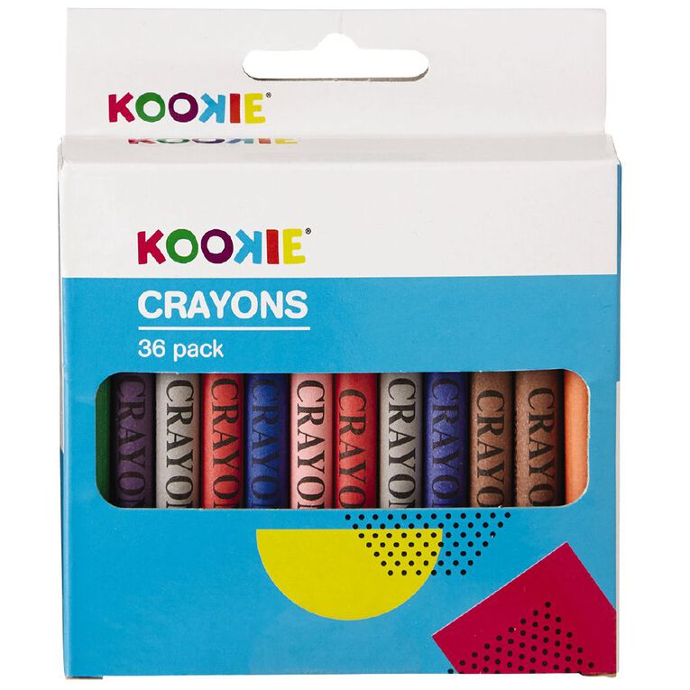 Kookie Crayons Multi-Coloured 36 Pack, , hi-res