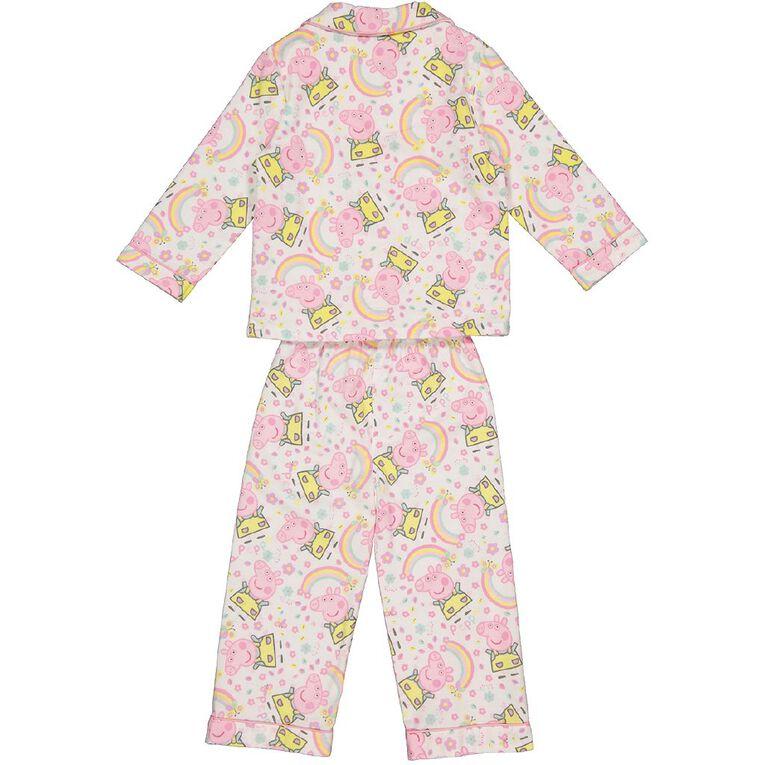 Peppa Pig Kids' Flannelette Pyjamas, White, hi-res