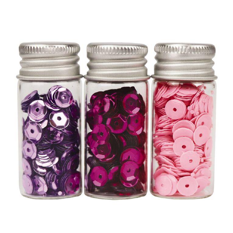 Uniti Sequins Pinks 3 Pack, , hi-res