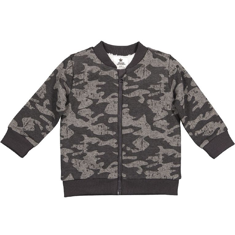 Young Original Sherpa Lined Jacket, Charcoal, hi-res