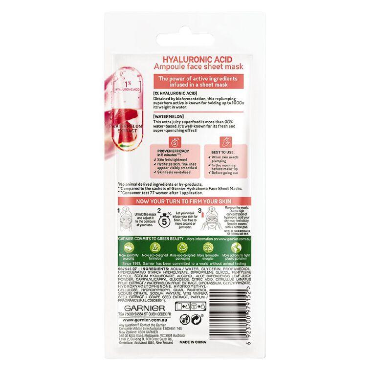 Garnier Skin Active Ampoule 5 Min Sheet Mask Hylauronic, , hi-res
