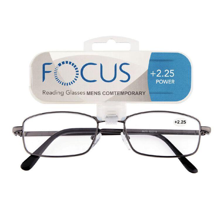 Focus Reading Glasses Men's Contemporary 2.25, , hi-res