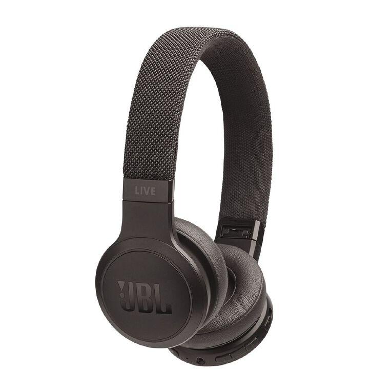 JBL Live 400BT On-Ear Wireless Headphones Black, , hi-res