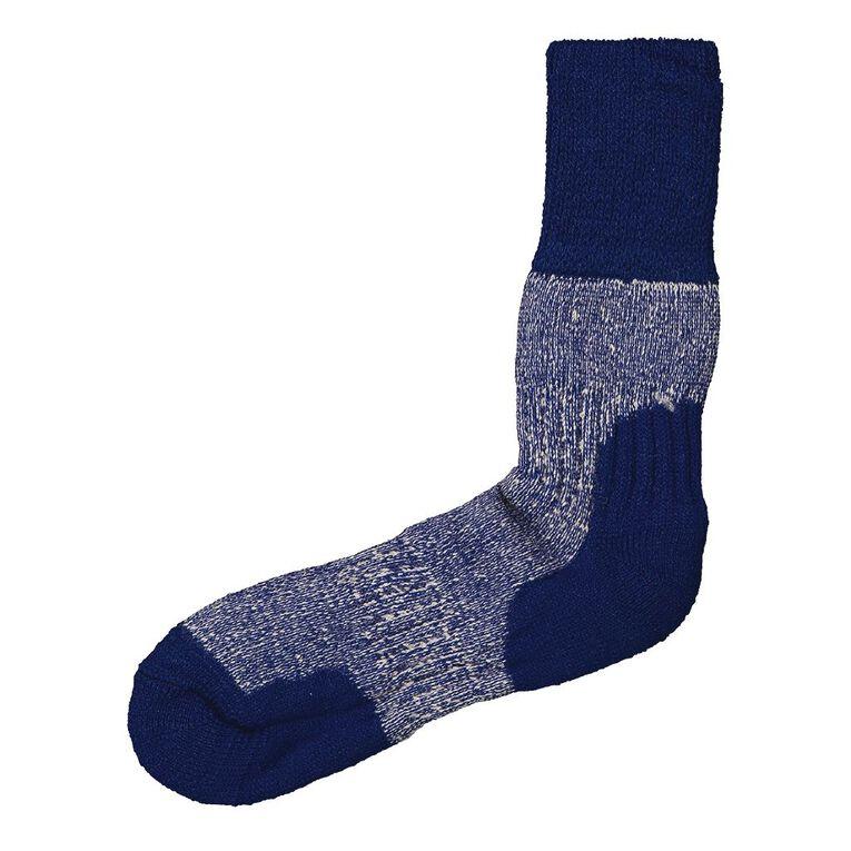 Alpsocks Women's Merino Boot Socks 1 Pack, Blue, hi-res