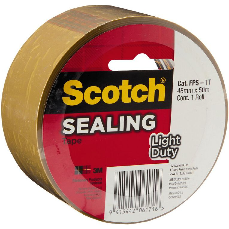 Scotch Sealing Tape 3609 48mm x 50m Tan, , hi-res