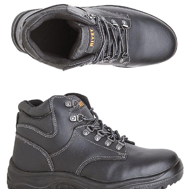 Rivet Orson Work Boots, Black, hi-res image number null