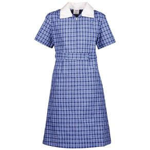 Schooltex Gingham Dress with Contrast Collar