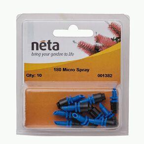 Neta Micro Irrigation Blue Base Micro Spray 180 Degree 10 Pack 13mm