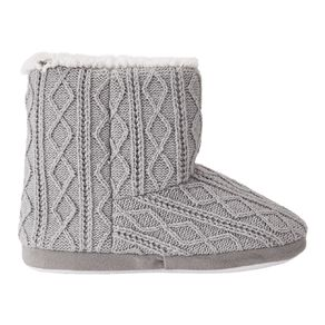 H&H Women's Cable Knit Slipper Boots