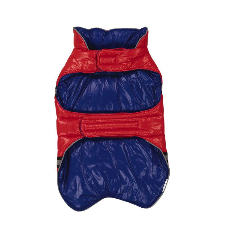 Petzone Reversible Puffer Jacket Red/Blue Small, , hi-res