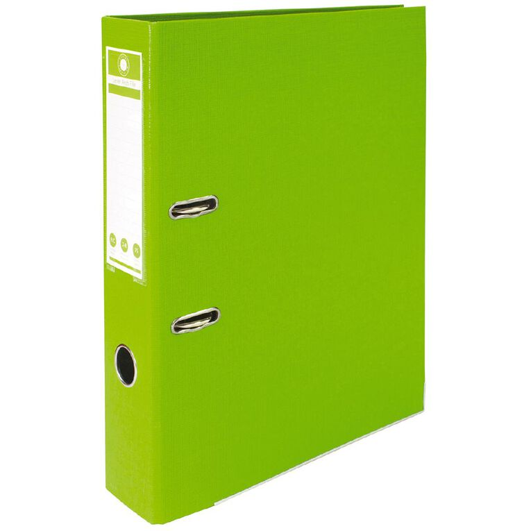 Office Supply Co Lever Arch Green Foolscap, , hi-res