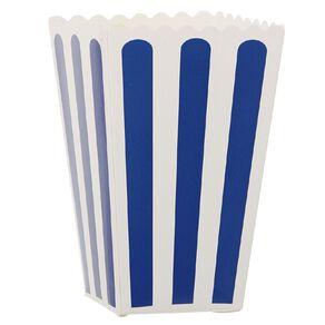 Party Inc Popcorn Boxes Blue Stripe 8 Pack