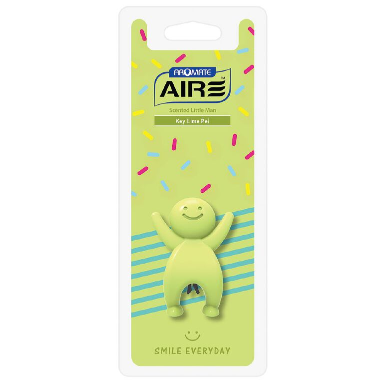 Aromate Air Key Lime Pie Scented Little Man Auto Air Freshener, , hi-res
